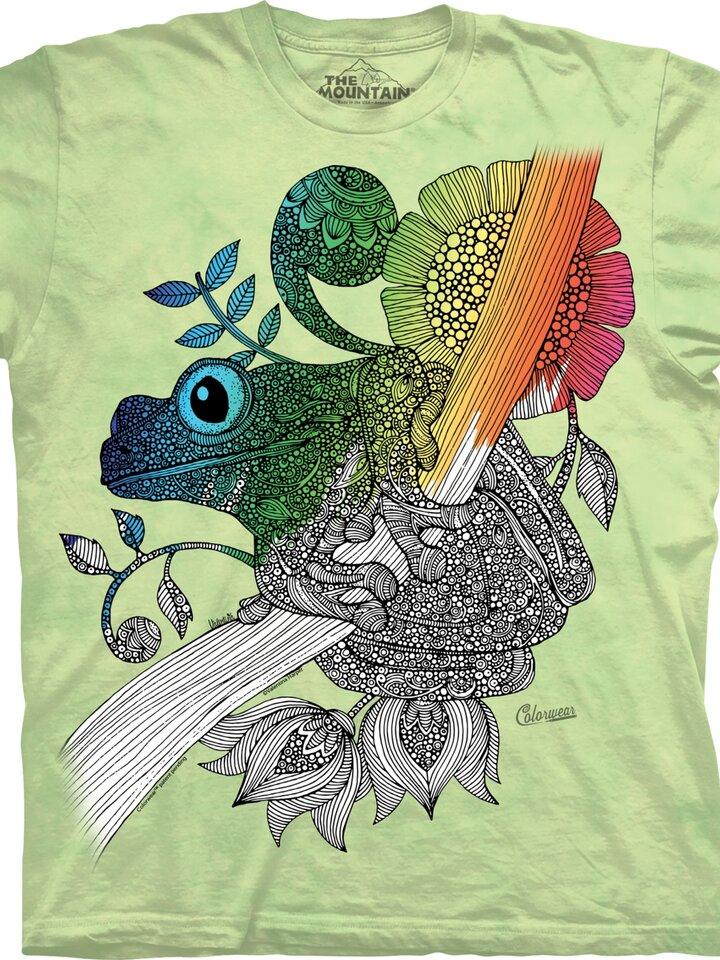 Original gift Mandala Colouring T-shirt Frog