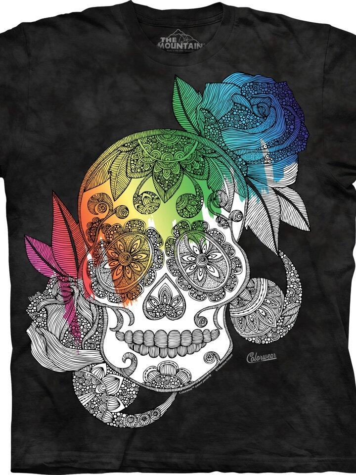 Obrázok produktu Mandala vyfarbovacie tričko Sladká lebka