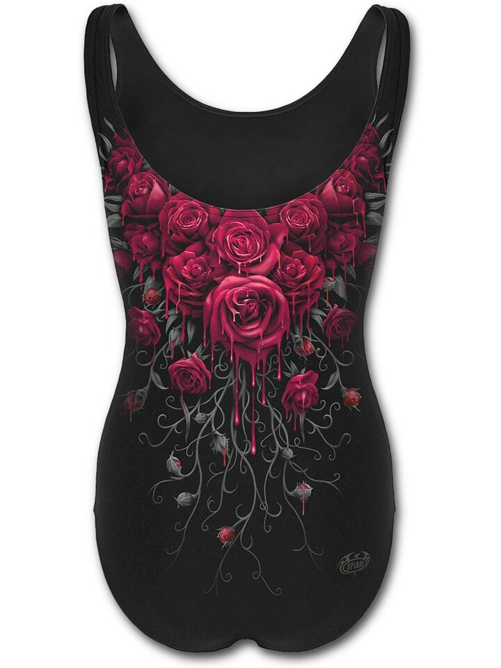 Výjimečný dárek od Dedoles Dámské plavky celé s motivem Krvavé růže