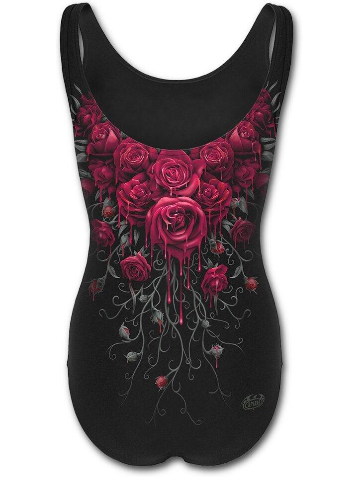 Original gift Ladies' Swimsuit with Design Bloody Roses
