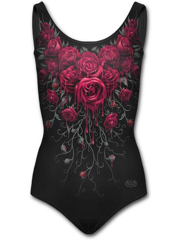 Lifestyle foto Dámské plavky celé s motivem Krvavé růže