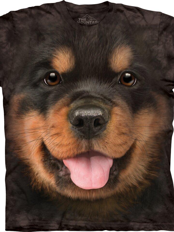 Pre dokonalý a originálny outfit Black T-shirt Rottweiler Puppy