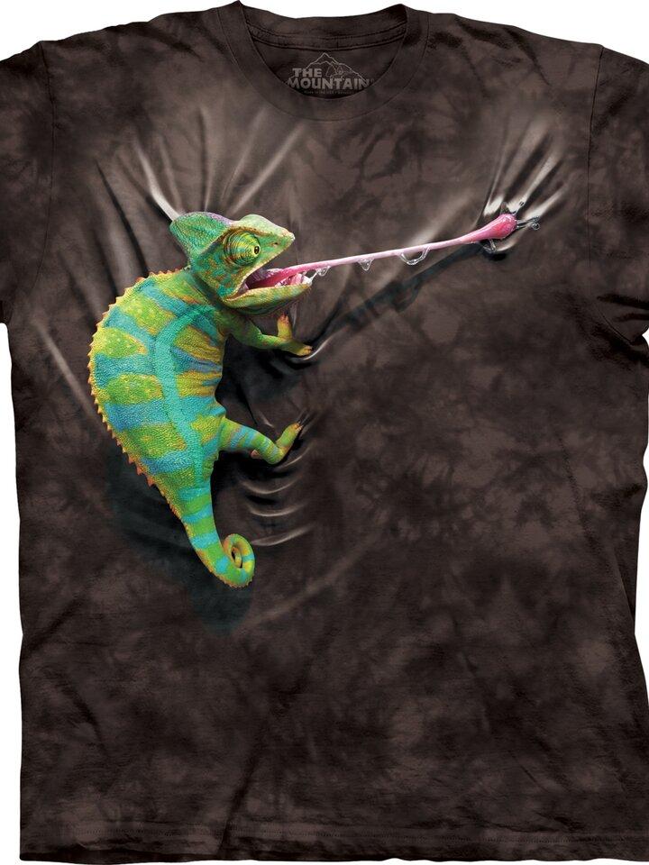 Sale Black T-shirt with Short Sleeve Chameleon
