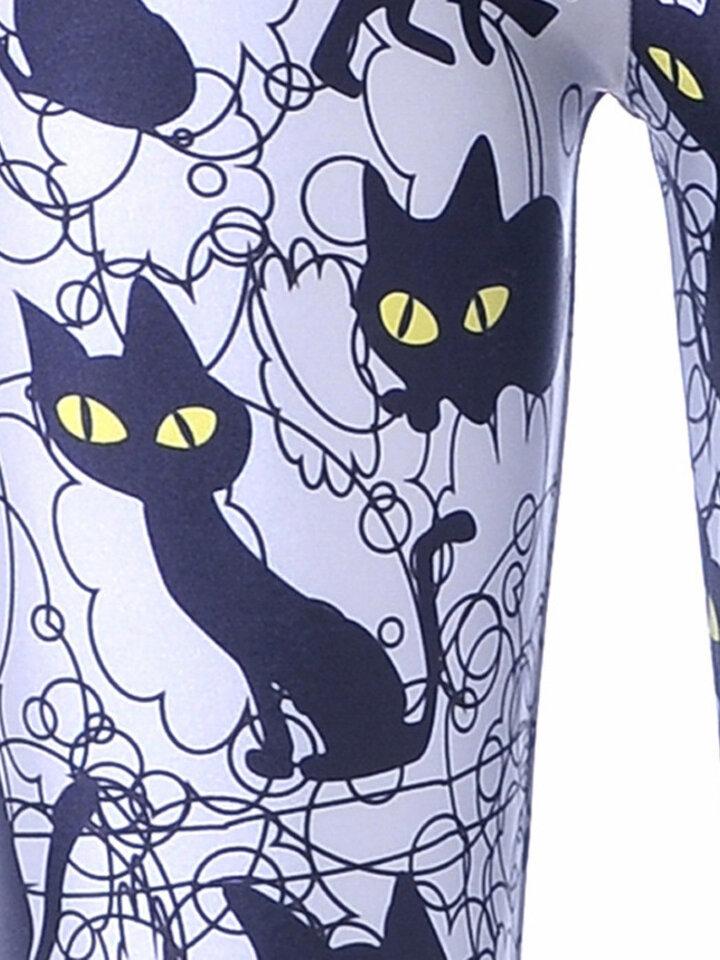Hľadáte originálny a nezvyčajný darček? Obdarovaného zaručene prekvapí Ženske elastične pajkice Črne mačke