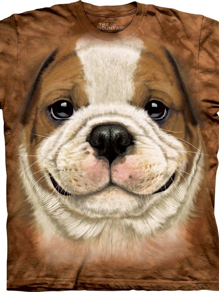 Obrázok produktu Hnedé tričko Šteniatko bulldoga