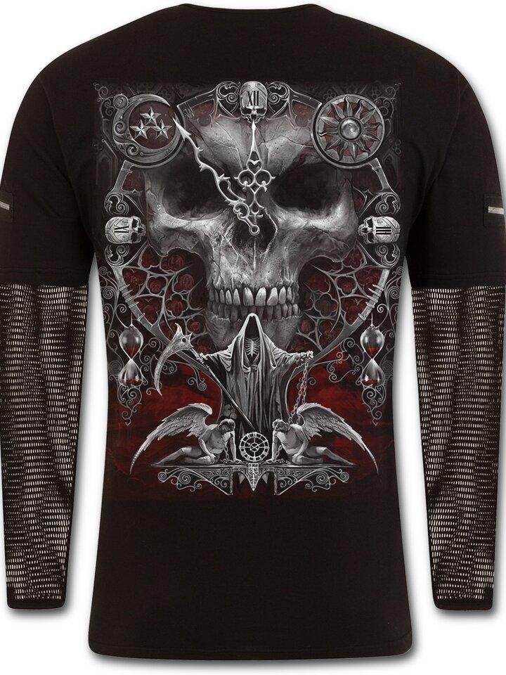 Original gift T-shirt with Long Mesh Sleeve Bloody Hourglass