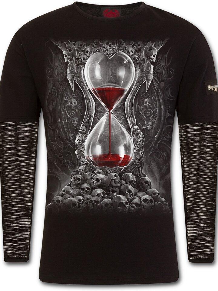 Obrázok produktu Tričko s dlhým sieťovaným rukávom Krvavé presýpacie hodiny