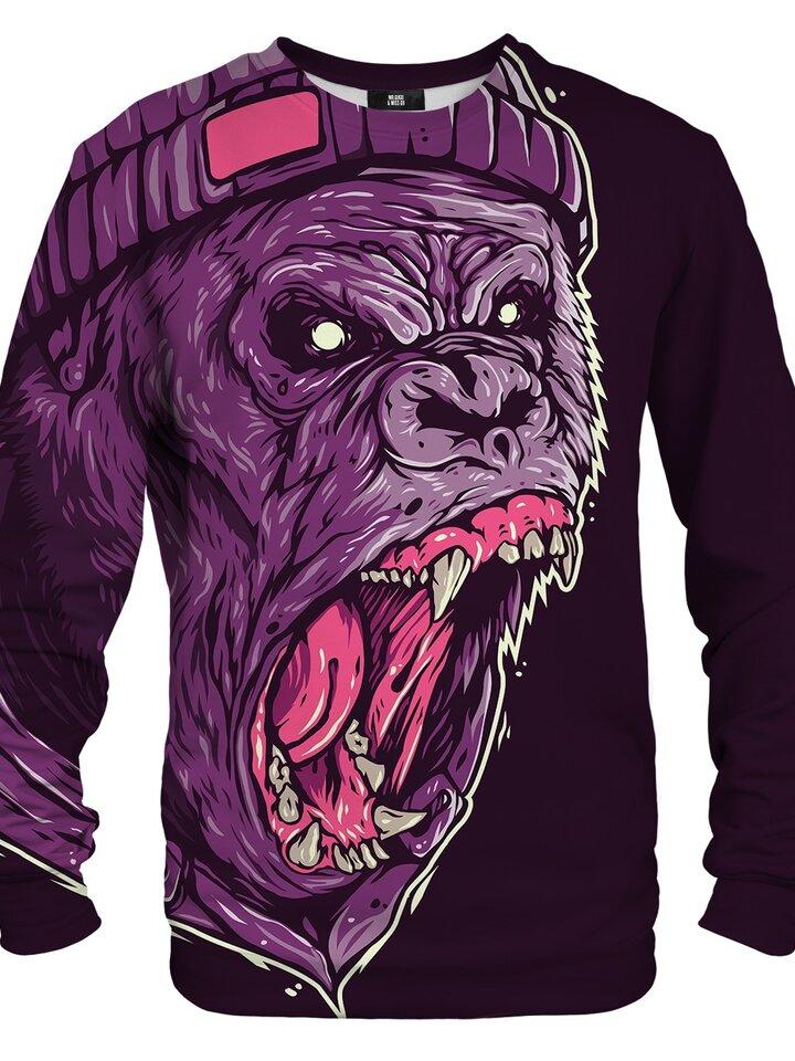 Geschenktipp Sweatshirt ohne Kapuze Gorillas Gebrüll