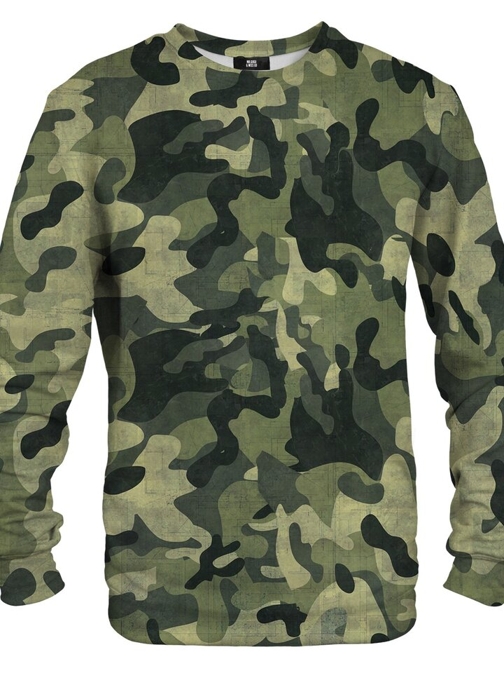 Lifestyle photo Sweatshirt Green Camouflage