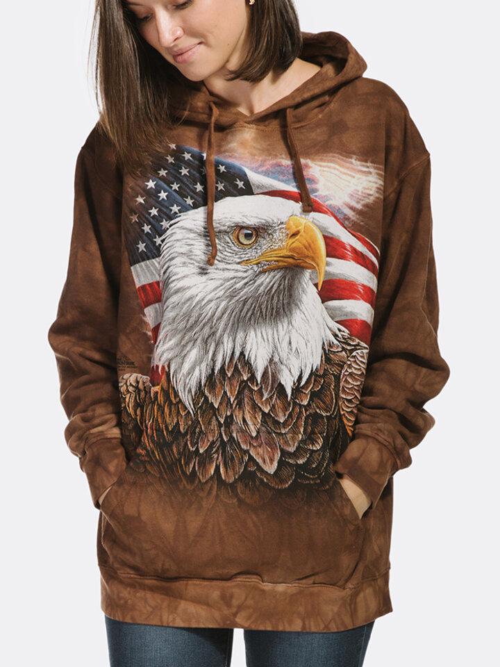 Obrázok produktu Mikina s kapucňou Profil amerického orla