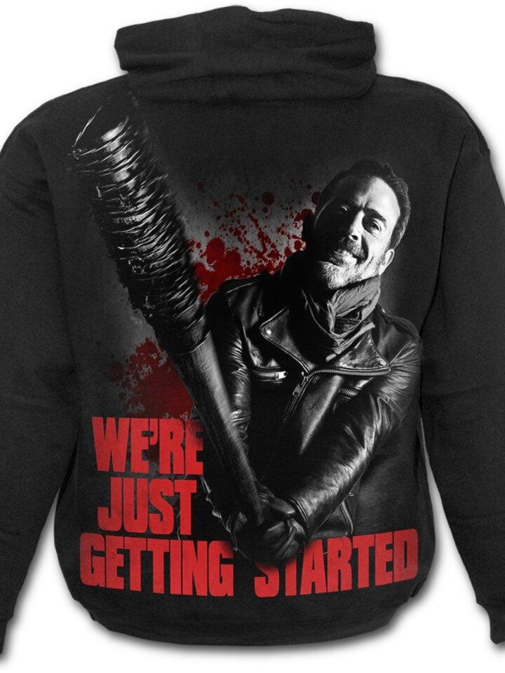 Căutați cadou unic și original? Va bucura enorm sărbătoritul Hanorac Walking Dead cu motiv Negan - Just getting started egan - Just getting started