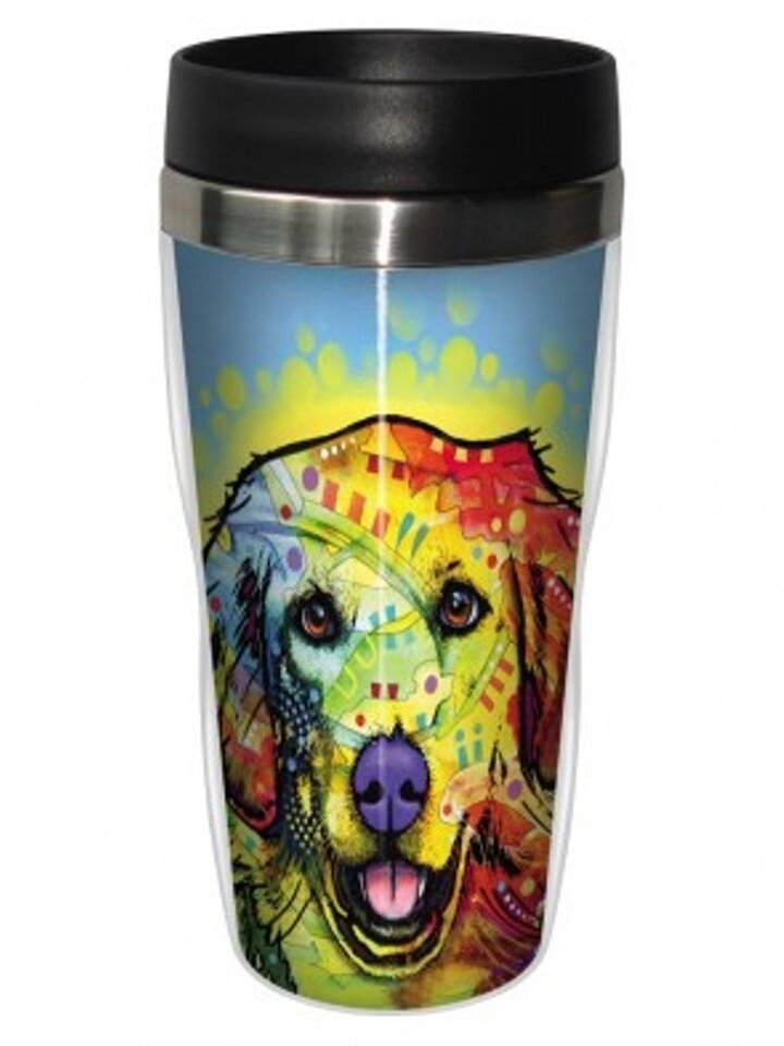 Zdjęcie lifestyle Thermo Mug Russo - Golden Retriever