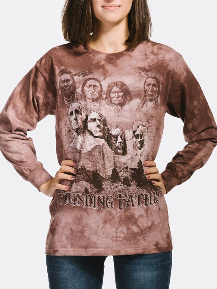 Geschenktipp T-Shirt mit langen Ärmeln Gründerväter der Vereinigten Staaten