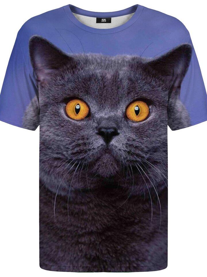 Gift idea T-shirt with Short Sleeve British Cat