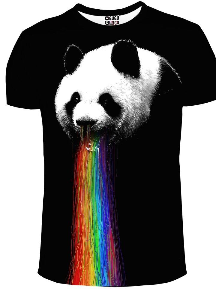 Výnimočný darček od Dedoles Tričko s krátkym rukávom Panda a dúha
