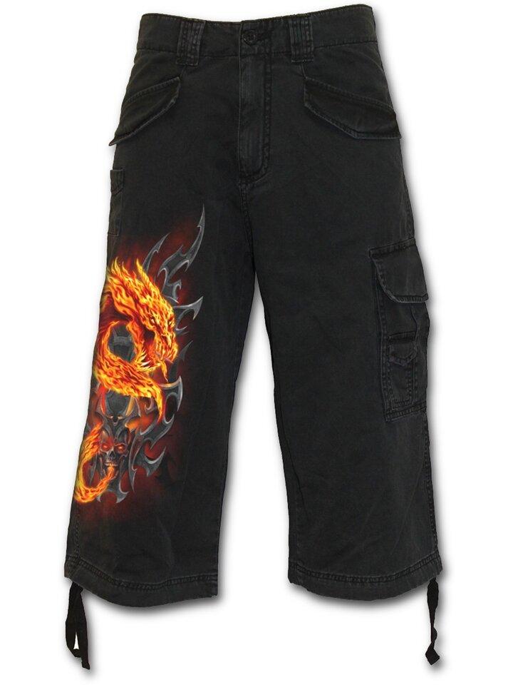 Obrázok produktu Pánske nohavice - trojštvrťové s motívom Žiarivý drak