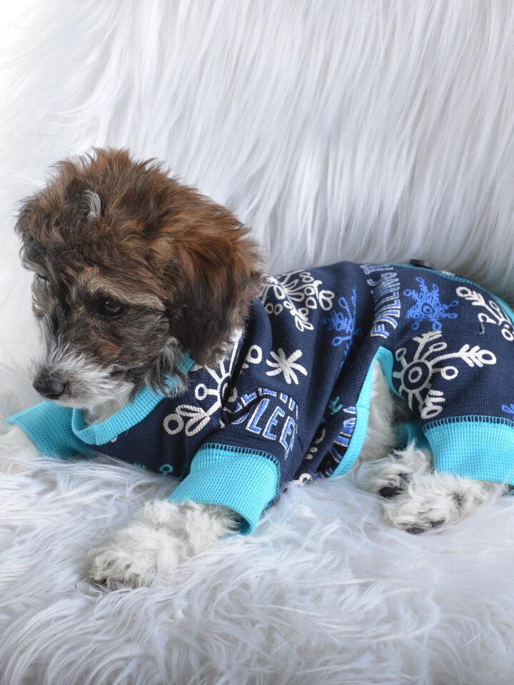 Bereiten Sie sich Freude mit diesem Dedoles-Stück Blauer Hundeoverall Flocken