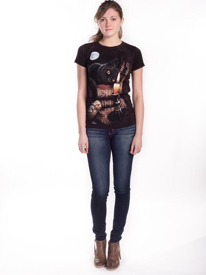 Pre dokonalý a originálny outfit Dámske tričko Mačka pri sviečke