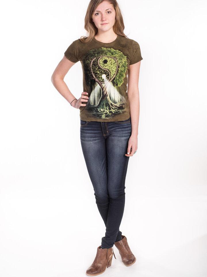 Geschenk von Dedoles Damen T-Shirt Yin Yang Baum