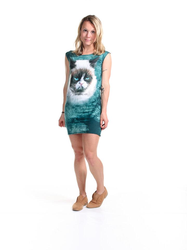 Geschenktipp Minikleid Grämliche Katze