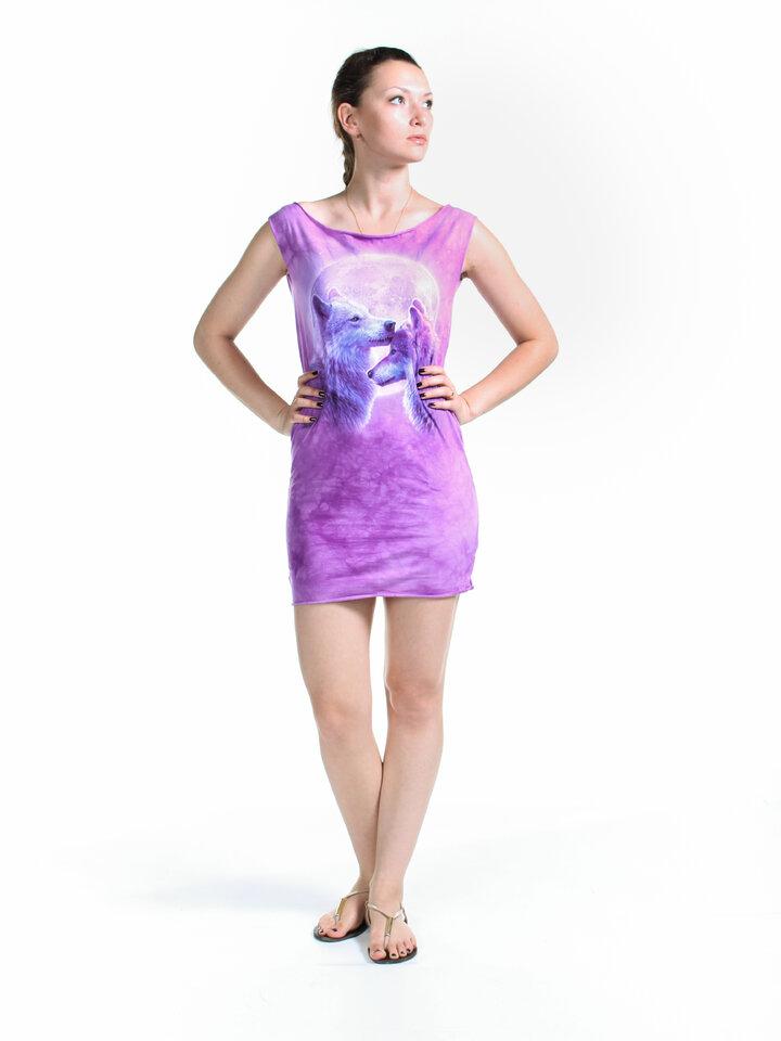 Cadou original de la Dedoles Loving Wolves  Mini Dress