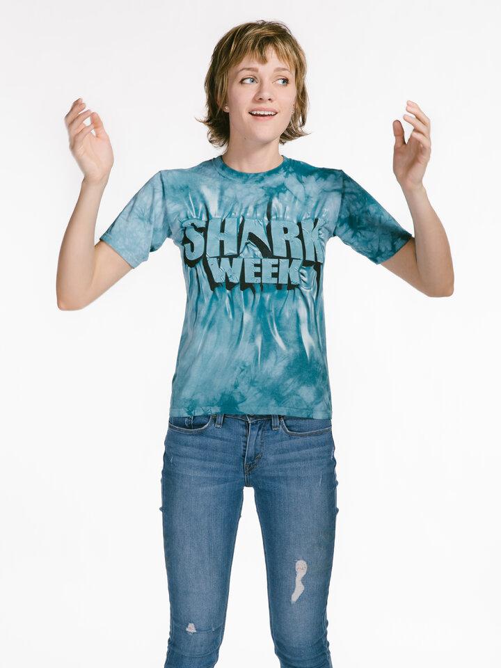 pro dokonalý a originální outfit Aqua Shark Week T Shirt
