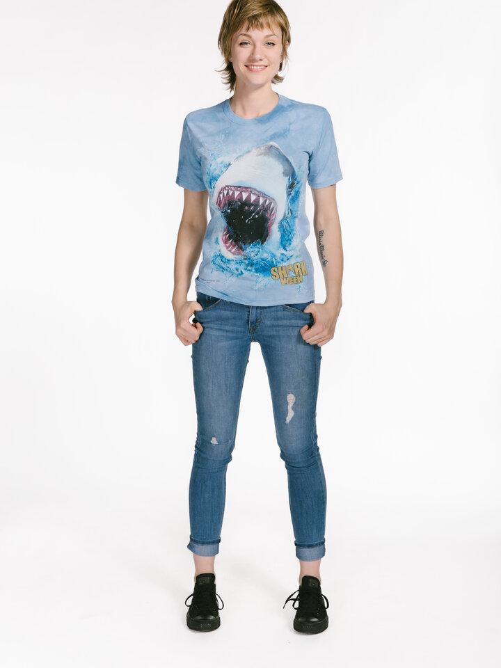 Hľadáte originálny a nezvyčajný darček? Obdarovaného zaručene prekvapí Shark Feed Shark Week T Shirt