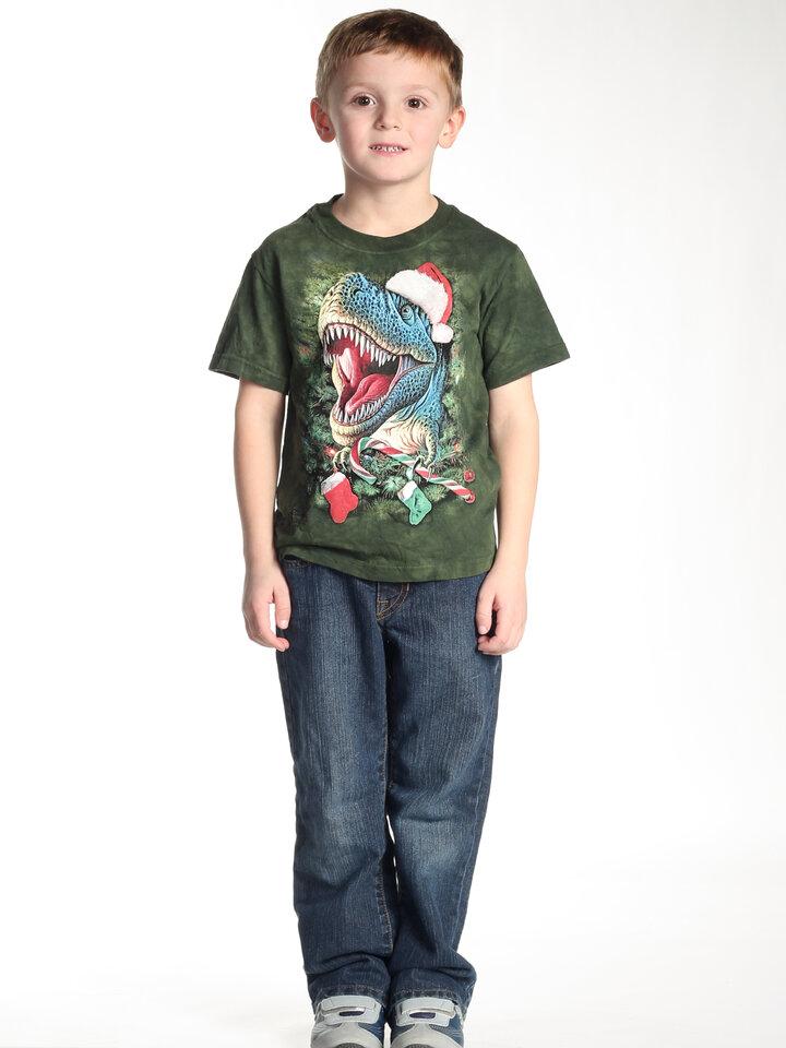 Potešte sa týmto kúskom Dedoles Tričko Vianočný T-Rex - detské