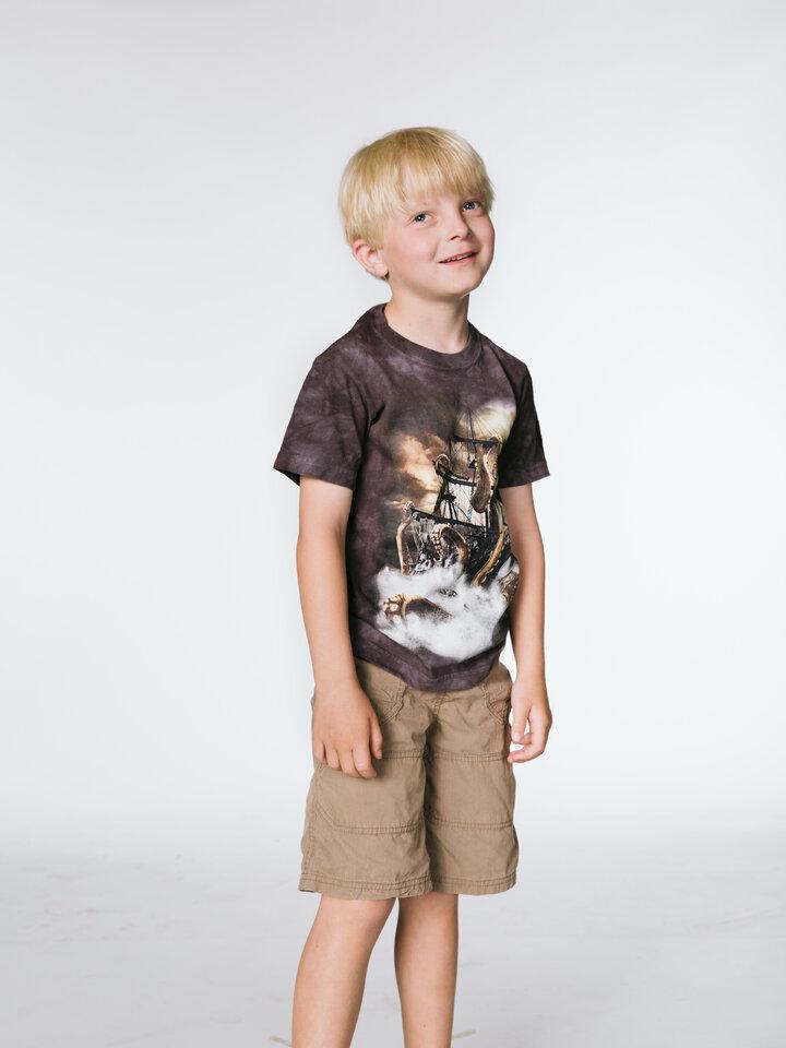pro dokonalý a originální outfit Tričko Chobotnice Kraken a loď - dětské