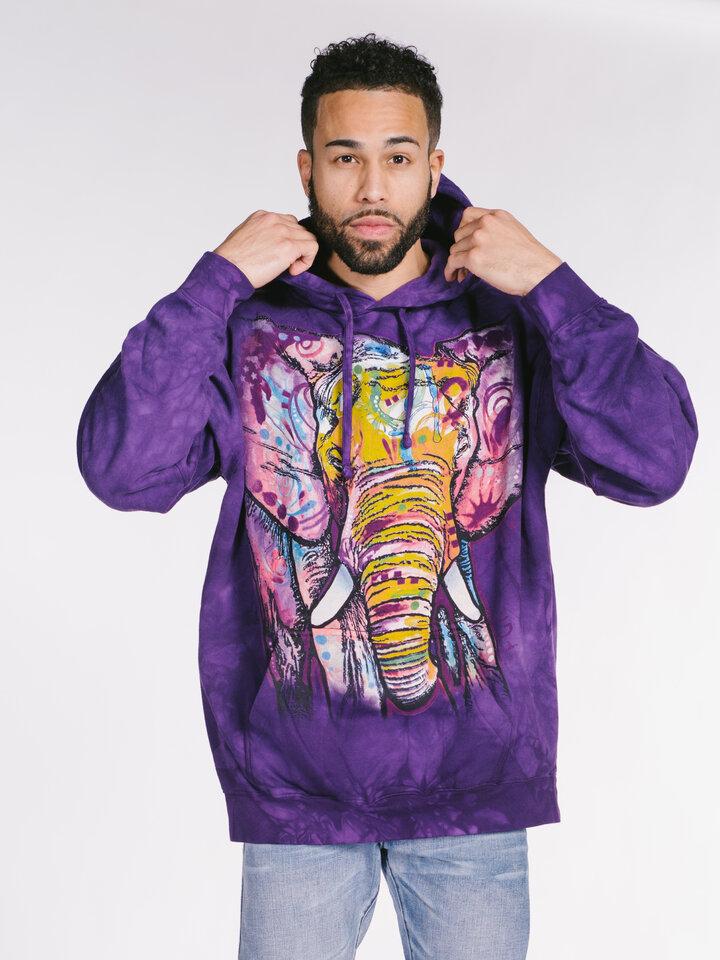 Ausverkauf Sweatshirt mit Kapuze Russo Elefant