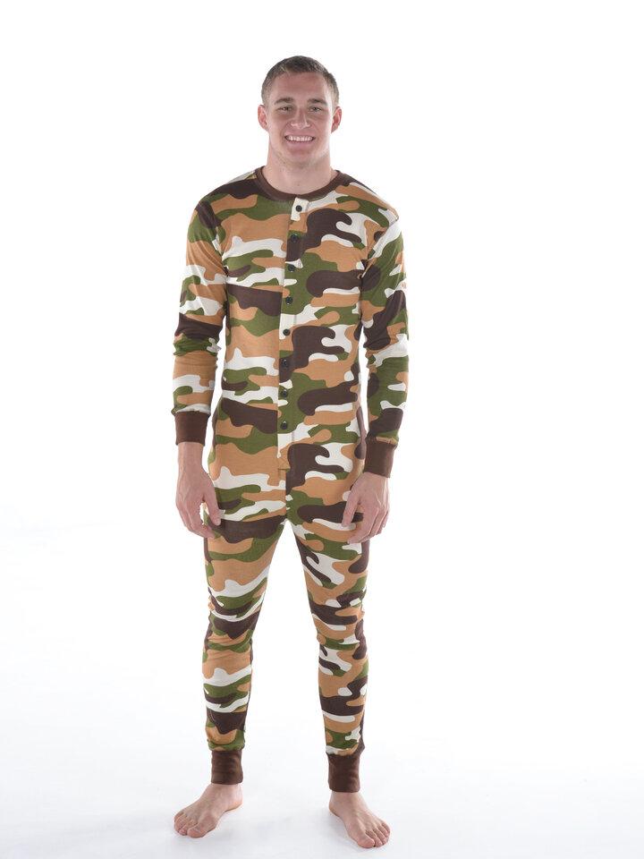 pro dokonalý a originální outfit Pyžamový maskáčový overal