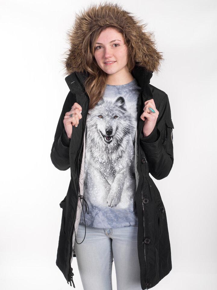 Sleva Dlouhý rukáv Sněžný vlk
