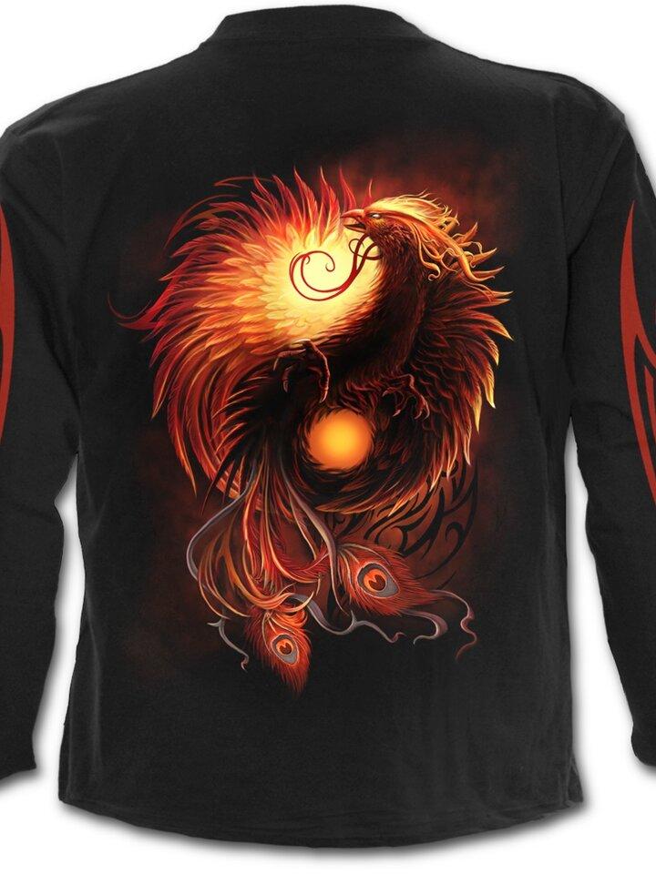 Potešte sa týmto kúskom Dedoles Men's T-shirt with Long Sleeve Phoenix