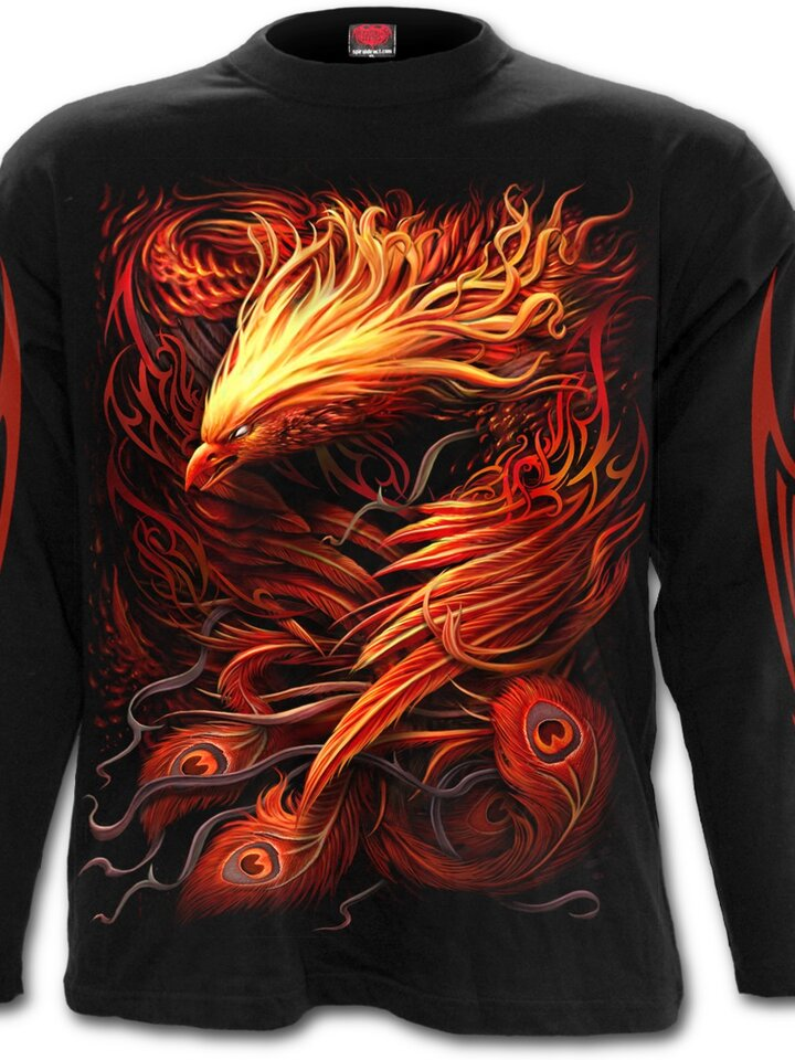 Original gift Men's T-shirt with Long Sleeve Phoenix