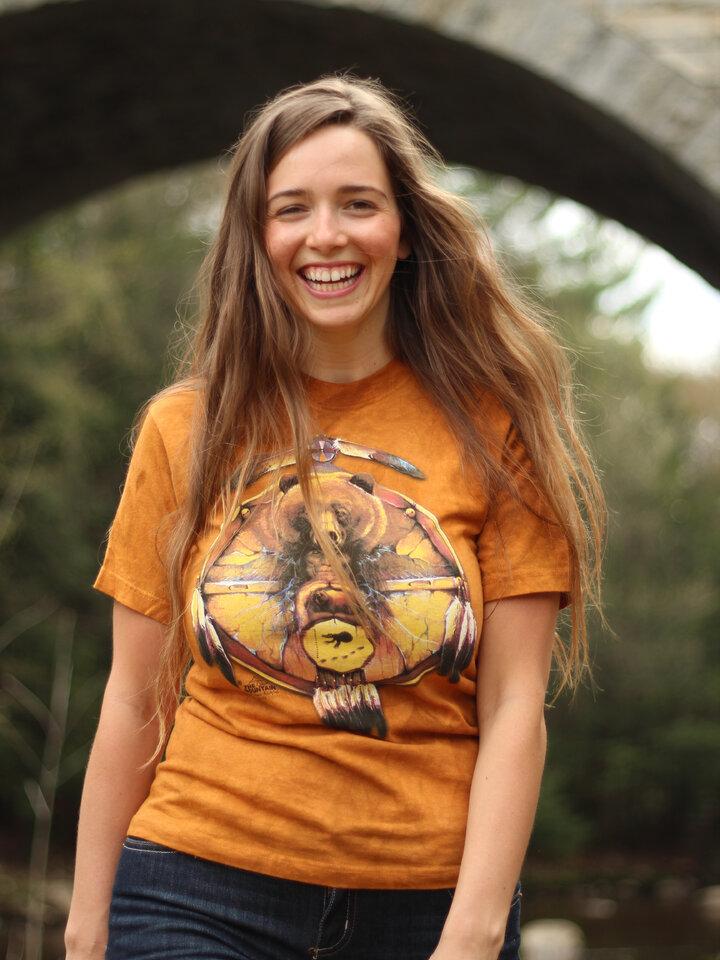 Geschenk von Dedoles T-Shirt Collage Indianer Bär