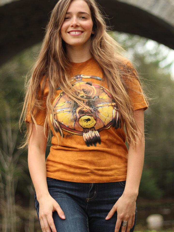 Bereiten Sie sich Freude mit diesem Dedoles-Stück T-Shirt Collage Indianer Bär