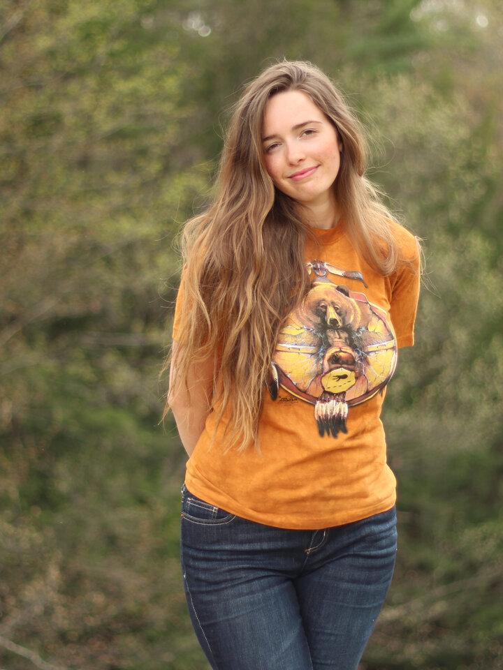 für ein vollkommenes und originelles Outfit T-Shirt Collage Indianer Bär