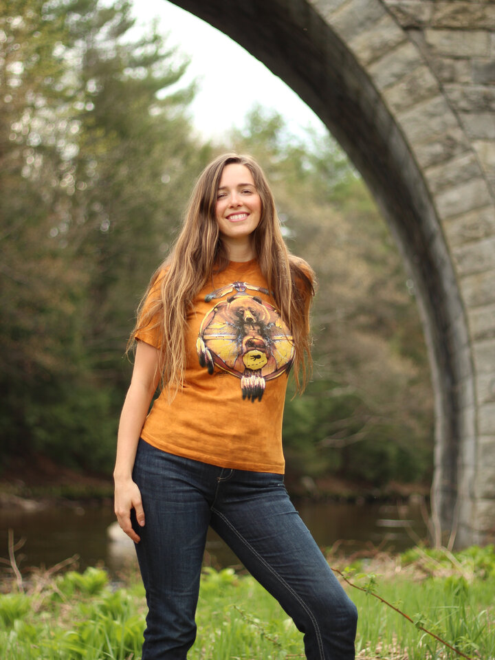 Ausverkauf T-Shirt Collage Indianer Bär