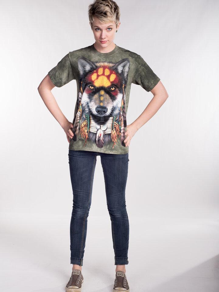 Výpredaj Tričko Vlk Indián