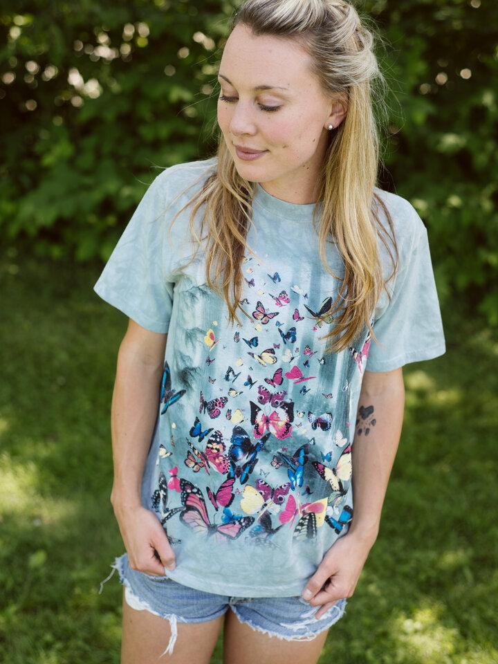 Geschenktipp T-Shirt Schmetterlinge