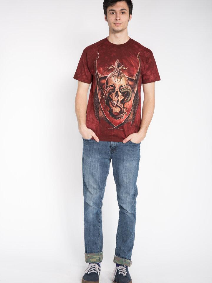 Foto T-Shirt Drache mit Schädel