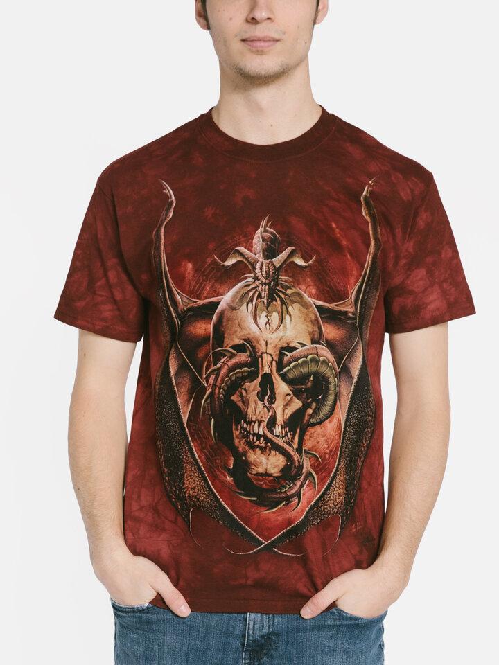 Suchen Sie ein originelles und außergewöhliches Geschenk? überrascht den Beschenkten sicher T-Shirt Drache mit Schädel