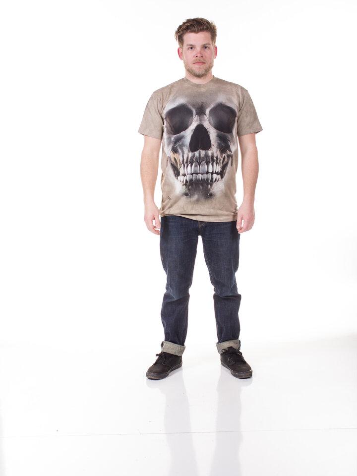 Foto T-Shirt Gesicht Schädel