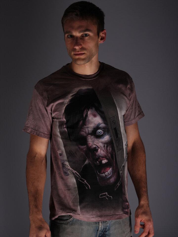 Pre dokonalý a originálny outfit Tričko Zombie vo dverách