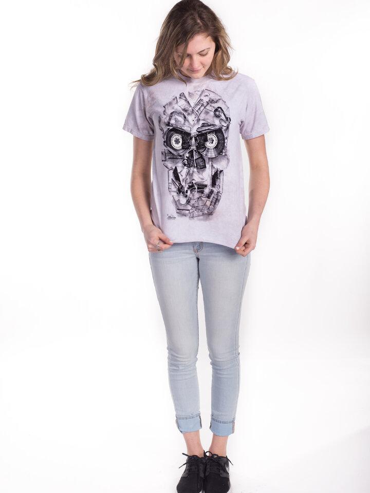 Lifestyle-Foto T-Shirt  Bänderschädel