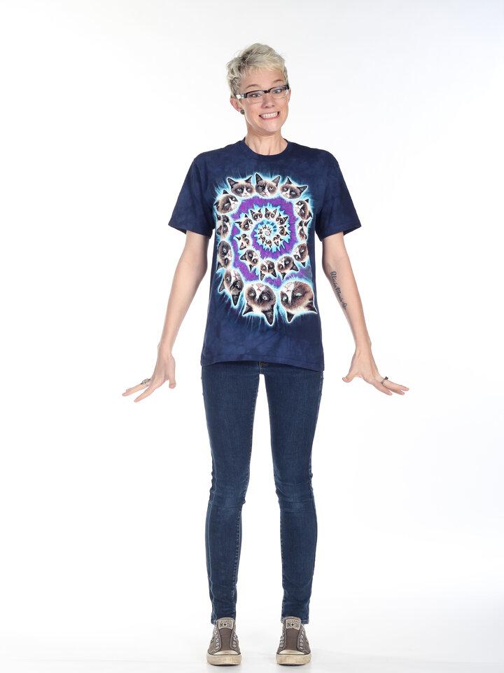 Geschenktipp T-Shirt Grumpy Cat Spiral