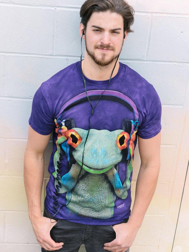 Výpredaj Tričko žaba so slúchadlami