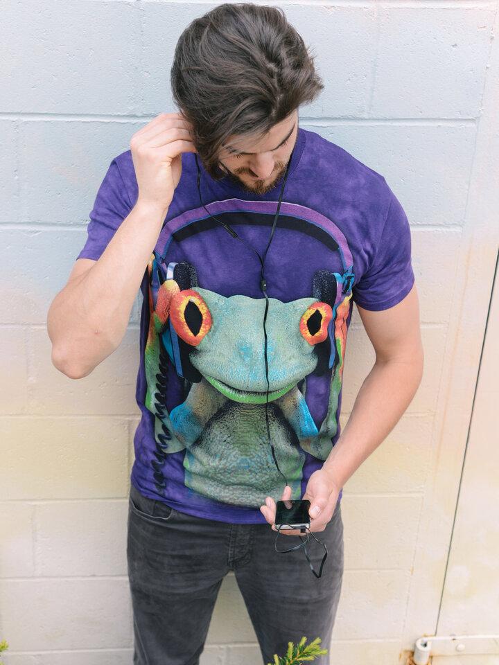 Potešte sa týmto kúskom Dedoles Tričko žaba so slúchadlami