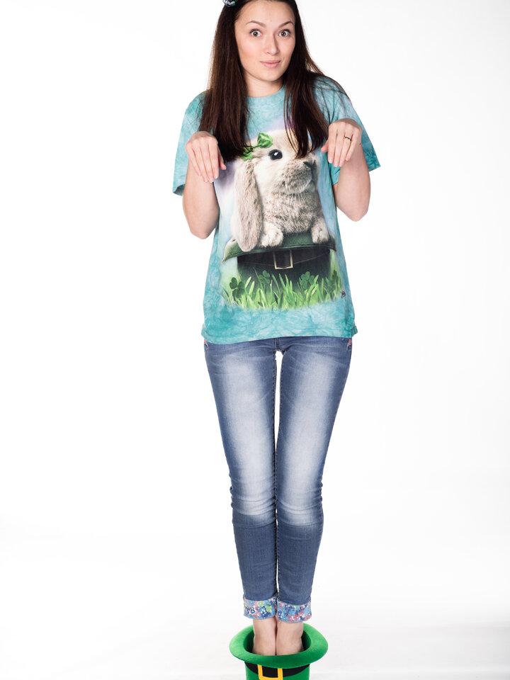 für ein vollkommenes und originelles Outfit T-Shirt Irischer Hase