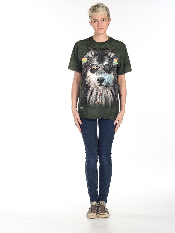 Rabatt T-Shirt Rasta Wolf